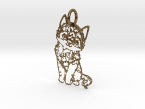 creative pendant cat in Natural Bronze