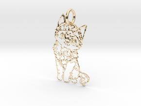 creative pendant cat in 14K Yellow Gold