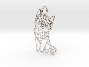creative pendant cat in Rhodium Plated Brass