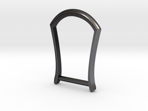 "1.25"" Long Buckle Frame, Plain - STEEL in Polished and Bronzed Black Steel"