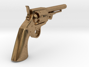 Ned Kelly Gang Colt 1851 Revolver 1:6 Scale in Natural Brass