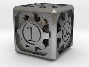 D6 - Clockwork in Natural Silver (Interlocking Parts)