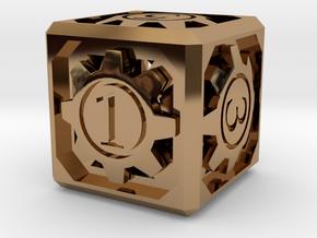 D6 - Clockwork in Polished Brass (Interlocking Parts)