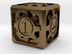 D6 - Clockwork in Polished Bronze (Interlocking Parts)