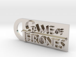 Game Of Thrones Keychain in Rhodium Plated Brass