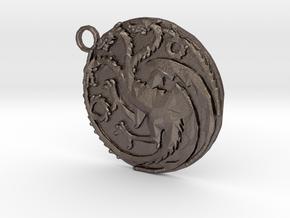 Targaryen Sigil in Polished Bronzed Silver Steel