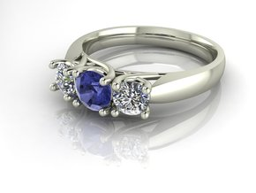 Classic Solitaire 19 NO STONES SUPPLIED in Fine Detail Polished Silver