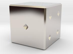 6 numbered dice  in Platinum