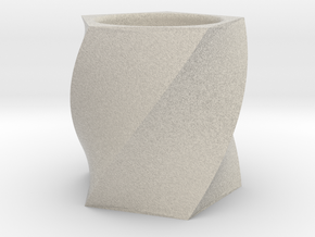 Twisted Tealight Holder in Natural Sandstone