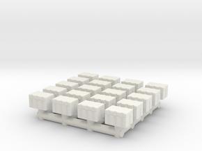 1/87 Scale Mini Crates in White Natural Versatile Plastic