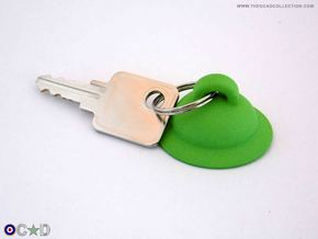 OCAD MK2 HELMET KEYRING HANGER in Green Strong & Flexible Polished