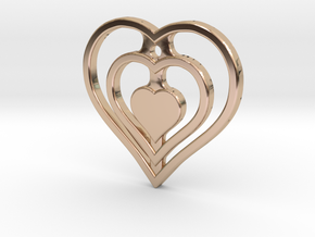 The Hearty Heart (precious metal pendant) in 14k Rose Gold Plated