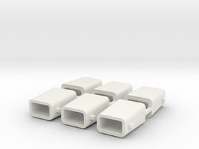 set4795 Stahlkokille 2 Zapfen Längs ohne Boden 6er in White Strong & Flexible