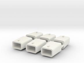 set4796 Stahlkokille 2 Zapfen quer ohne Boden 6erS in White Strong & Flexible