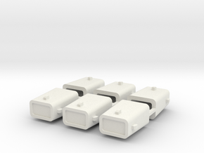 set4797 Stahlkokille 4 Zapfen mit Guß 6erSet 1:120 in White Strong & Flexible