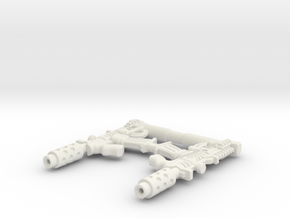 Crosshairs' Crossfires (TLK Legion class) in White Natural Versatile Plastic