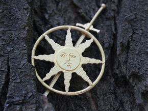 Sunlight Hair Pin in Polished Gold Steel