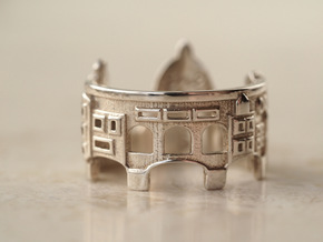 Florence Cityscape - Skyline Ring in Polished Silver