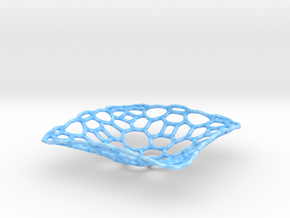 bowl_honey_wire in Gloss Blue Porcelain