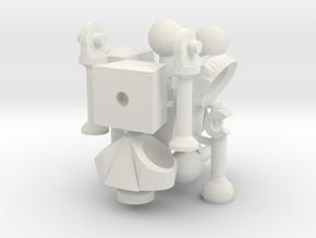 Nate's Skeleton in White Natural Versatile Plastic: Large
