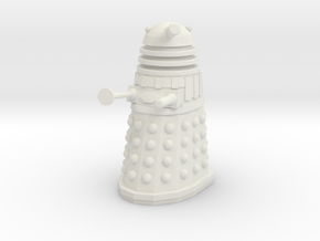 Imperial Dalek - Pose 1 in White Natural Versatile Plastic