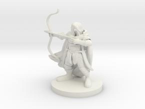 Dwarf  Male  Ranger in White Natural Versatile Plastic