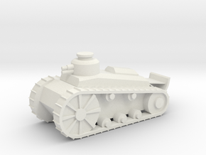 Light Tank in White Natural Versatile Plastic