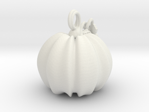 Pumpkin 1.75 in White Natural Versatile Plastic