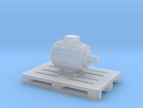 Elektromotor auf Europalette - 1:120 TT in Smooth Fine Detail Plastic