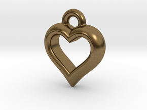 The Hearty Little Heart (precious metal pendant) in Natural Bronze