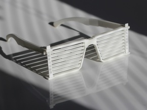 Sunglass Luxa in White Natural Versatile Plastic