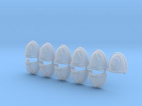 Basic Squad Mk7/8 Shoulder Pads in Smooth Fine Detail Plastic