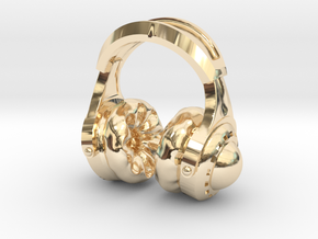 Pocket full headphones - (One version) in 14k Gold Plated Brass
