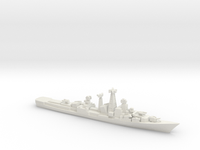 INS Rajput w/ BrahMos, 1/1250 in White Natural Versatile Plastic