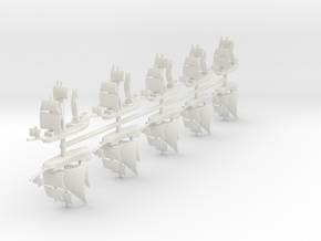 1/2000 Pirate Ship Game Pieces in White Natural Versatile Plastic: Small