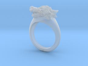 wolf Ring in Smooth Fine Detail Plastic: Medium
