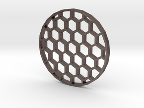 40mm Honeycomb Kill Flash (Stainless Steel) in Polished Bronzed Silver Steel