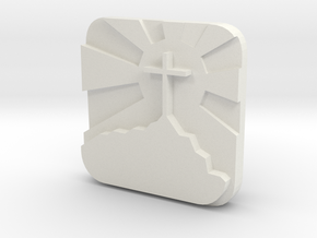Cross mount  in White Natural Versatile Plastic