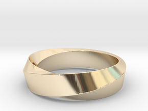 Mobius Wide Ring I (Size 11) in 14K Yellow Gold
