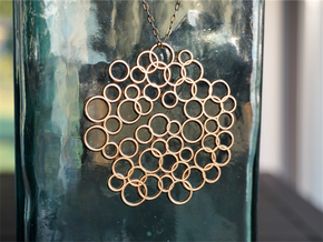Bubble Pendant in Raw Bronze