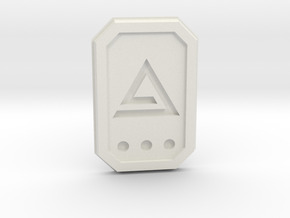 The witcher: aard glyph in White Natural Versatile Plastic
