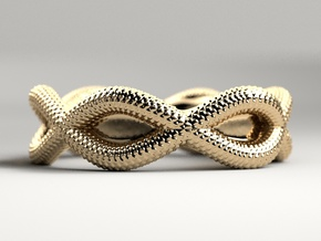 Lizard Ring in Polished Gold Steel
