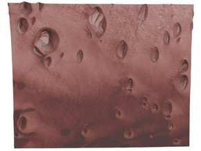 Mars Map: Small Buttes and Dunes in Light Red in Full Color Sandstone