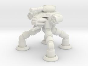 Four Leged Combat Walker in White Natural Versatile Plastic