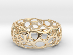 Voronoi Bracelets in 14k Gold Plated Brass