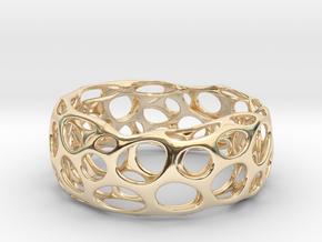 Voronoi Bracelets in 14k Gold Plated Brass