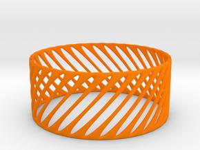 TIS_bracelet_CUBE_05a in Orange Strong & Flexible Polished