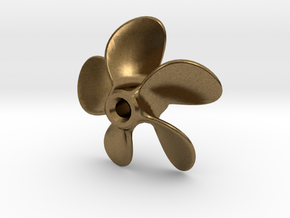 Model Ship Propeller 30mm 5-blades (RH) in Natural Bronze