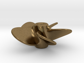 Model Ship Propeller 30mm 5-blades (LH) in Natural Bronze