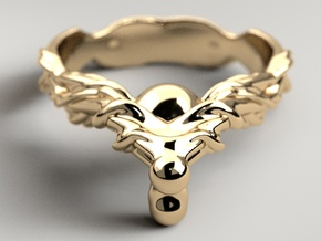 Ring of Root in Polished Gold Steel